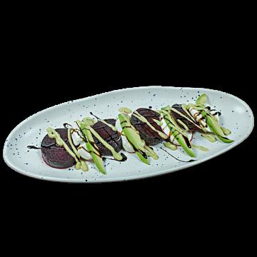 Капрезе с печено цвекло и авокадо